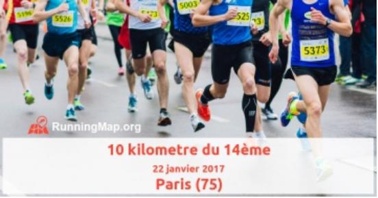 10Km de Paris 14ème, le 22 janvier 2017