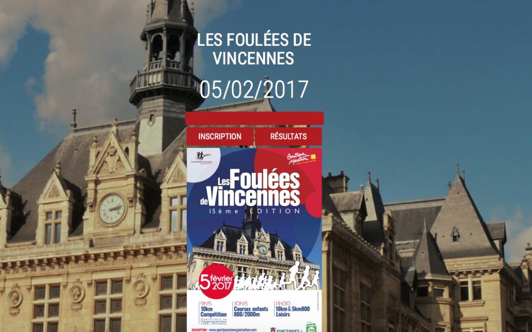 Les Foulées de Vincennes, le 5 février 2017