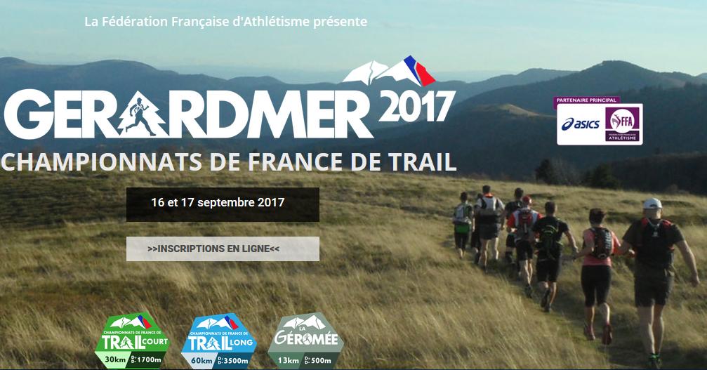 Championnats de France de Trail à Gérardmer, le 16-17 septembre 2017