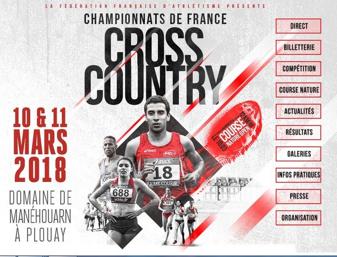 Championnat de France de Cross, Plouay, les 10 & 11 mars 2018